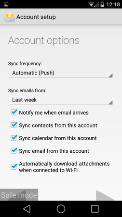 How do I set up my employee email on my Android phone