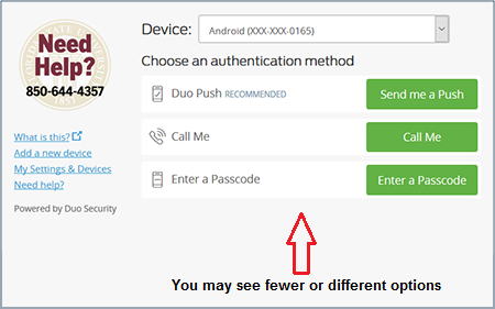 Choose auth method
