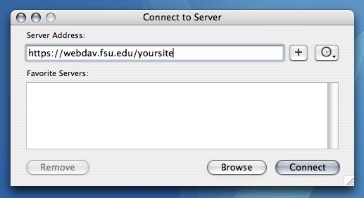 WebDAV with Mac OS X (Departmental) | ITS Knowledge Base