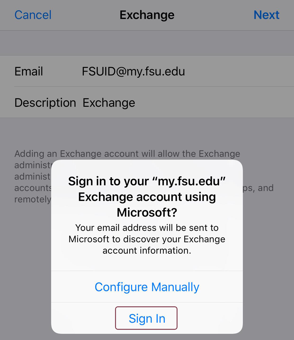 How do I set up my student email on my iOS device? | ITS